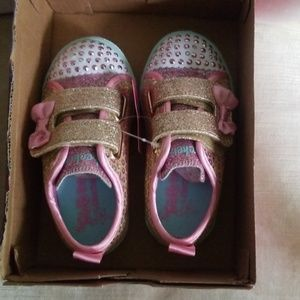 Nwb Twinkle toes light up sparkle velcro